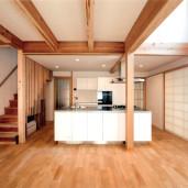 嵯峨釈迦堂の家 1Fリビング・キッチン