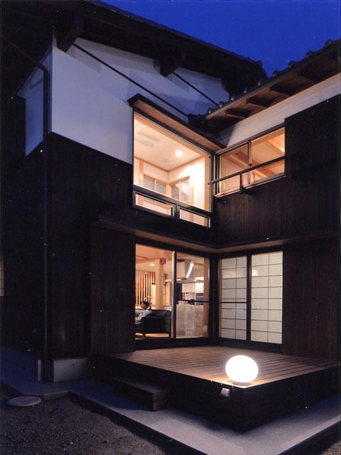 嵯峨釈迦堂の家 デッキ