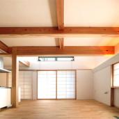 嵯峨釈迦堂の家 1Fリビング・ダイニング
