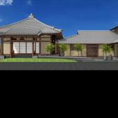 高岳寺 (やや手狭な敷地に建つ本堂・客殿・庫裡の建替)
